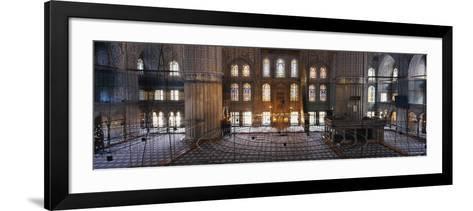 Interiors of a Mosque, Blue Mosque, Istanbul, Turkey--Framed Art Print