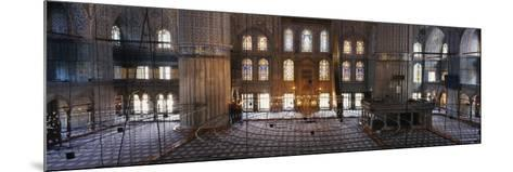 Interiors of a Mosque, Blue Mosque, Istanbul, Turkey--Mounted Photographic Print
