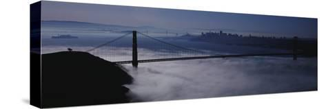 Fog over Golden Gate Bridge, San Francisco, California, USA--Stretched Canvas Print