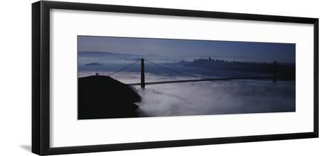 Fog over Golden Gate Bridge, San Francisco, California, USA--Framed Art Print