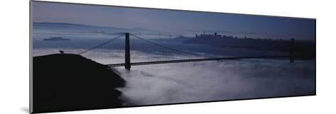 Fog over Golden Gate Bridge, San Francisco, California, USA--Mounted Photographic Print