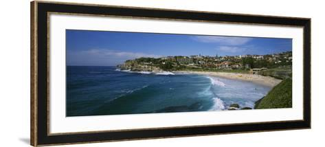 Group of People on the Beach, Coogee Beach, Sydney, New South Wales, Australia--Framed Art Print