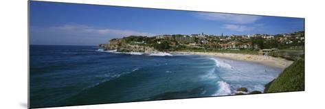 Group of People on the Beach, Coogee Beach, Sydney, New South Wales, Australia--Mounted Photographic Print