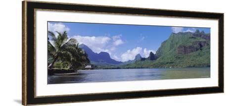 Palm Trees on the Beach, Moorea, French Polynesia--Framed Art Print