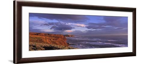 Waves Washing Up on Rocks, Pillar Point, San Mateo Coast, Princeton of the Sea, California, USA--Framed Art Print