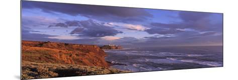 Waves Washing Up on Rocks, Pillar Point, San Mateo Coast, Princeton of the Sea, California, USA--Mounted Photographic Print