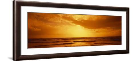 Ocean at Dusk, Pacific Ocean, California, USA--Framed Art Print