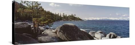 Rocks on the Coast, Lake Tahoe, California, USA--Stretched Canvas Print