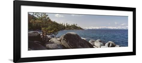 Rocks on the Coast, Lake Tahoe, California, USA--Framed Art Print
