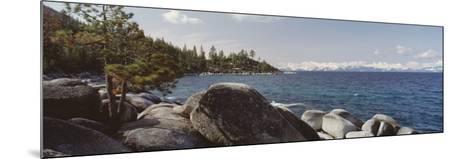 Rocks on the Coast, Lake Tahoe, California, USA--Mounted Photographic Print