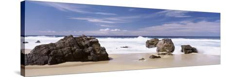 Rocks on the Beach, Big Sur Coast, Pacific Ocean, California, USA--Stretched Canvas Print