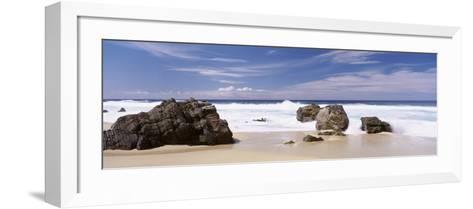 Rocks on the Beach, Big Sur Coast, Pacific Ocean, California, USA--Framed Art Print