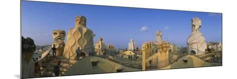 Chimneys on the Roof of a Building, Casa Mila, Barcelona, Catalonia, Spain--Mounted Photographic Print