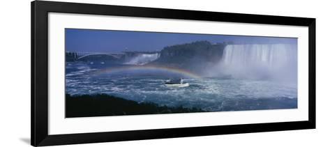 Tourboat near Waterfalls, Niagara Falls, Ontario, Canada--Framed Art Print