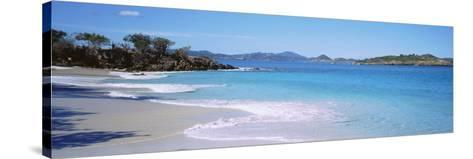 Waves Crashing on the Beach, Turtle Bay, Caneel Bay, St. John, US Virgin Islands--Stretched Canvas Print