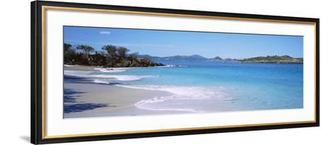 Waves Crashing on the Beach, Turtle Bay, Caneel Bay, St. John, US Virgin Islands--Framed Art Print