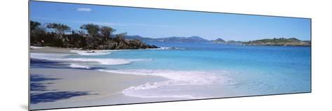 Waves Crashing on the Beach, Turtle Bay, Caneel Bay, St. John, US Virgin Islands--Mounted Photographic Print