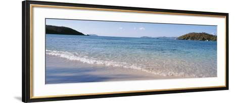 Waves Breaking on the Beach, Hawksnest Bay, St. John, US Virgin Islands--Framed Art Print