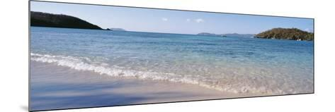 Waves Breaking on the Beach, Hawksnest Bay, St. John, US Virgin Islands--Mounted Photographic Print