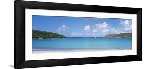 Sail Boats in the Sea, Saltpond Bay, St. John, US Virgin Islands--Framed Art Print