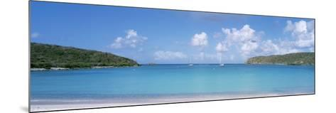 Sail Boats in the Sea, Saltpond Bay, St. John, US Virgin Islands--Mounted Photographic Print