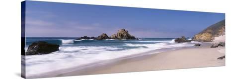 Surf on the Beach, Pfeiffer Beach, Big Sur, California, USA--Stretched Canvas Print