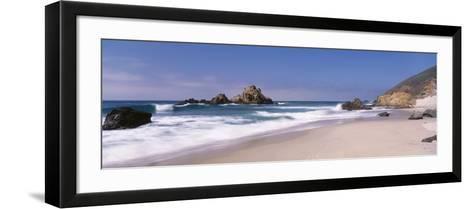 Surf on the Beach, Pfeiffer Beach, Big Sur, California, USA--Framed Art Print