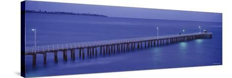 Pier at Dusk, Point Lonsdale, Geelong, Victoria, Australia--Stretched Canvas Print