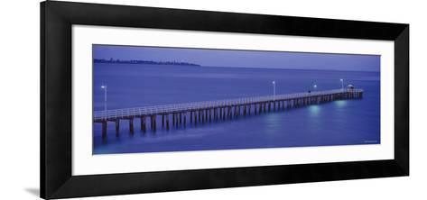 Pier at Dusk, Point Lonsdale, Geelong, Victoria, Australia--Framed Art Print