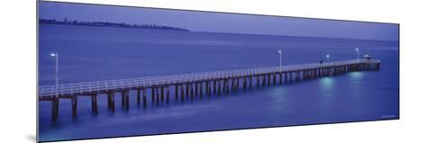 Pier at Dusk, Point Lonsdale, Geelong, Victoria, Australia--Mounted Photographic Print
