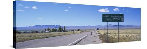 Empty Road Running through a Landscape, Route 375, Extraterrestrial Highway, Nevada, USA--Stretched Canvas Print