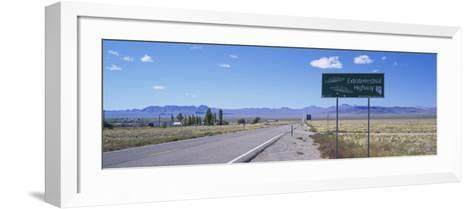 Empty Road Running through a Landscape, Route 375, Extraterrestrial Highway, Nevada, USA--Framed Art Print