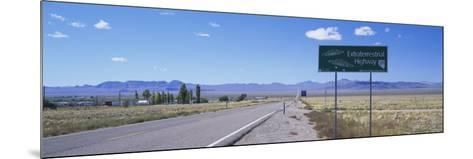 Empty Road Running through a Landscape, Route 375, Extraterrestrial Highway, Nevada, USA--Mounted Photographic Print