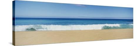Waves Crashing on the Beach, Oahu, Hawaii, USA--Stretched Canvas Print