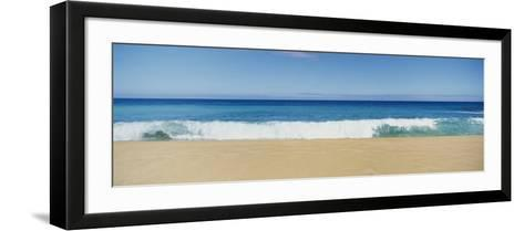 Waves Crashing on the Beach, Oahu, Hawaii, USA--Framed Art Print