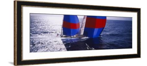 Yacht in the Sea, Caribbean--Framed Art Print