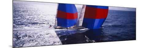 Yacht in the Sea, Caribbean--Mounted Photographic Print