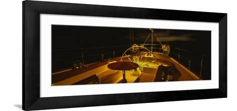 Yacht Cockpit at Night, Caribbean--Framed Art Print