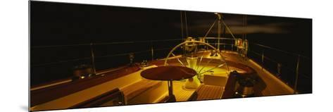 Yacht Cockpit at Night, Caribbean--Mounted Photographic Print