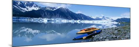 Kayaks by the Side of a River, Alaska, USA--Mounted Photographic Print