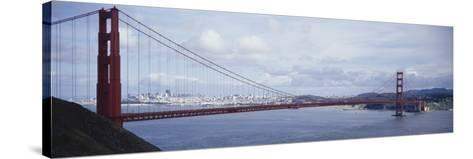 Bridge Across a River, Golden Gate Bridge, San Francisco, California, USA--Stretched Canvas Print
