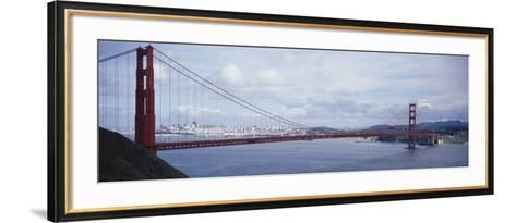 Bridge Across a River, Golden Gate Bridge, San Francisco, California, USA--Framed Art Print