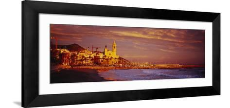 Beach, Sitges, Spain--Framed Art Print