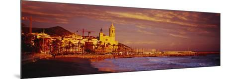 Beach, Sitges, Spain--Mounted Photographic Print