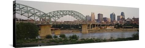 Bridge Across the River, Kansas City, Missouri, USA--Stretched Canvas Print