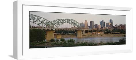 Bridge Across the River, Kansas City, Missouri, USA--Framed Art Print