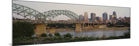 Bridge Across the River, Kansas City, Missouri, USA--Mounted Photographic Print