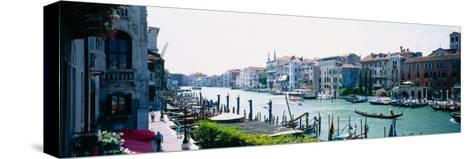 Boats and Gondolas in a Canal, Grand Canal, Venice, Italy--Stretched Canvas Print