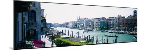 Boats and Gondolas in a Canal, Grand Canal, Venice, Italy--Mounted Photographic Print