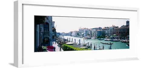 Boats and Gondolas in a Canal, Grand Canal, Venice, Italy--Framed Art Print